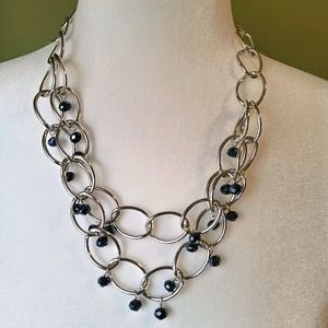 4/$15 Silver and blue necklace